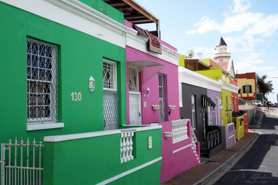 colored houses in Bo-Kaap in the city of Cape Town South Africa