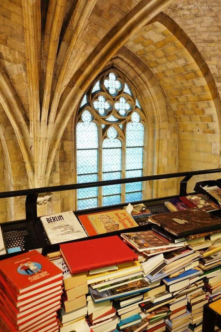 bookshop in old church