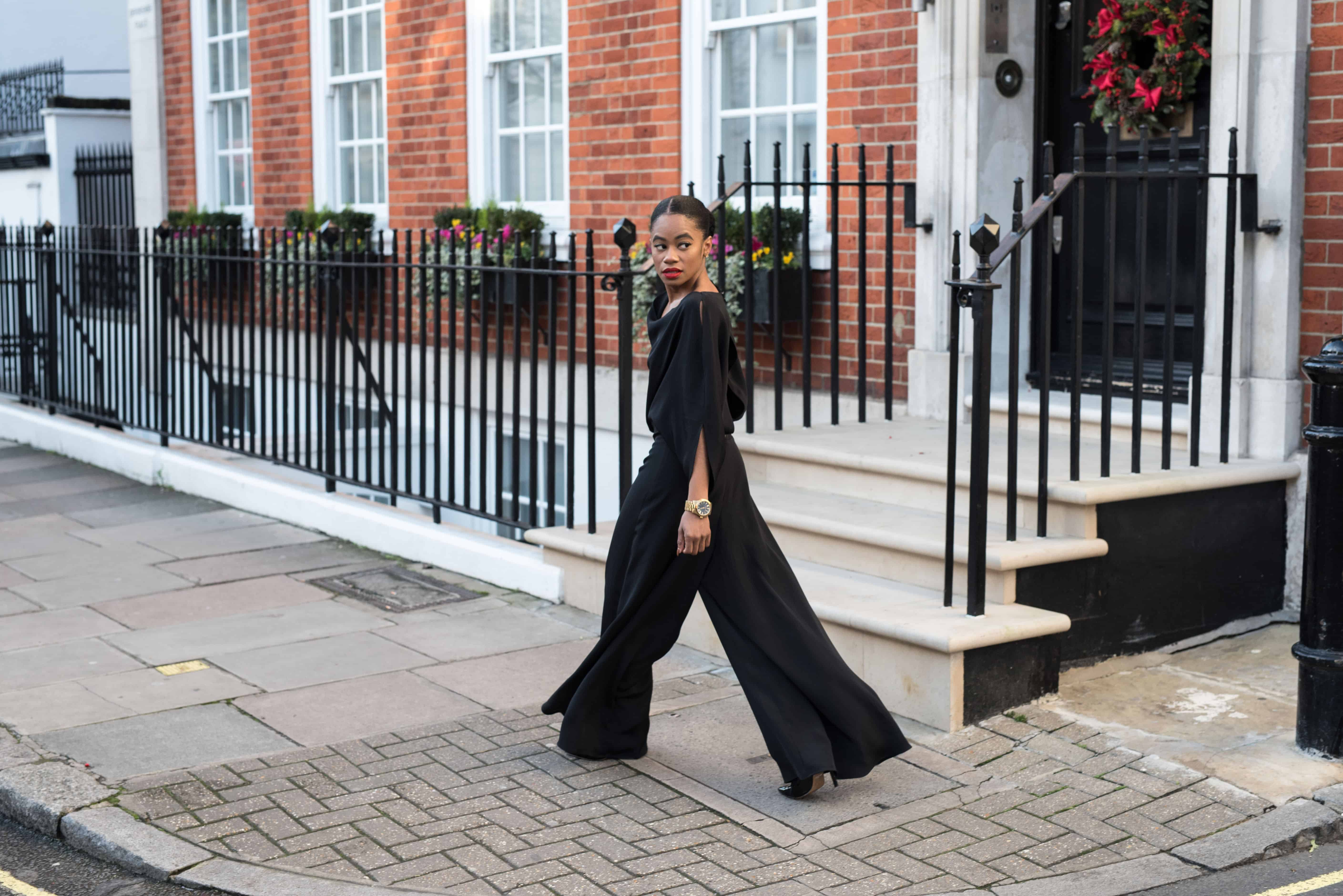 Black Silk Jumpsuit 2