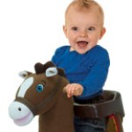 Tahoe Grow-with-Me Pony has a removable safety seat.