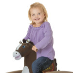 """Tahoe Grow-with-Me Pony sings the """"I'm a Little Pony"""" song and says 6 talking phrases."""