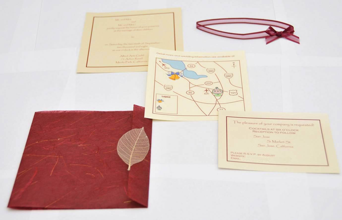 Homemade Wedding Invitation  Rock Paper Scissors