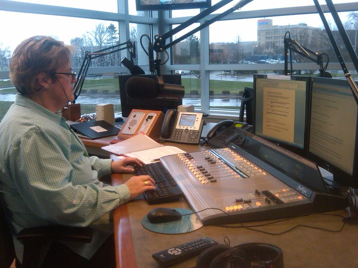 Sandy Collins at WHIO FM/AM Dayton, OH.