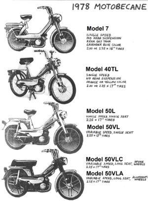 Motobecane US Models « Myrons Mopeds