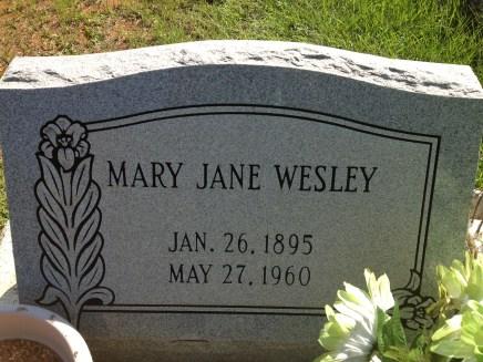 Mary Jane Burgess Wesley