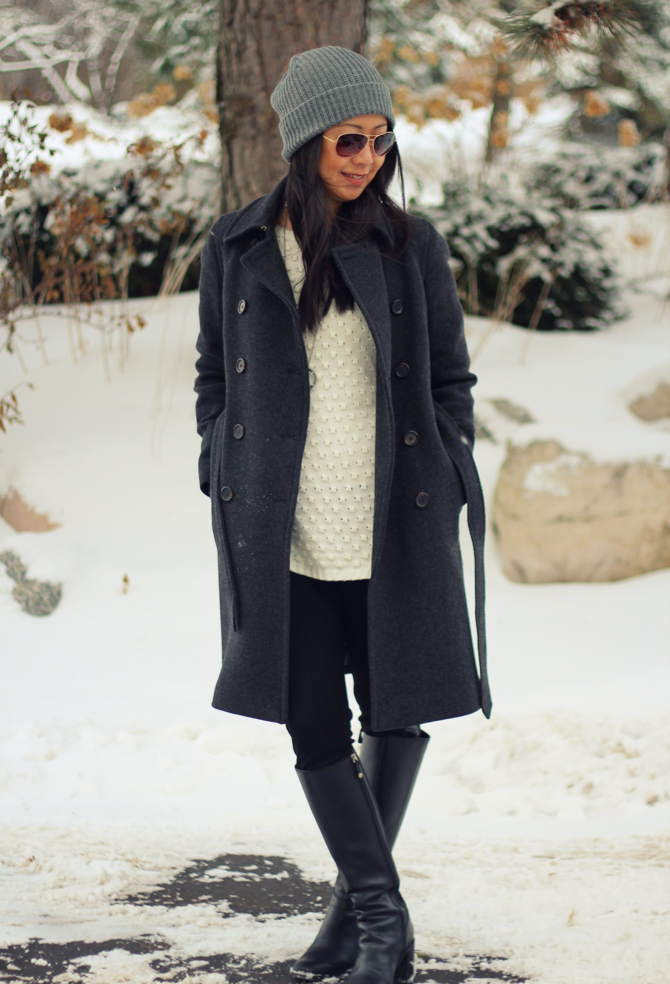 Outfit Highlight: Black, White and Gray All Over