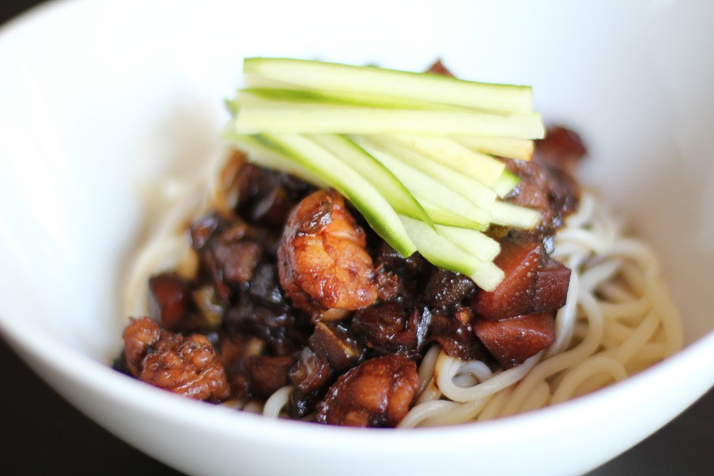 Recipe Highlight: Korean Noodles with Black Soybean Paste Sauce (Jajangmyeon)