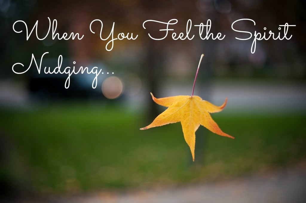 Weekly Wisdom: When You Feel the Spirit Nudging...