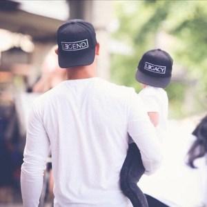 casquettes assortis père fils légende & héritage style Hip Hop