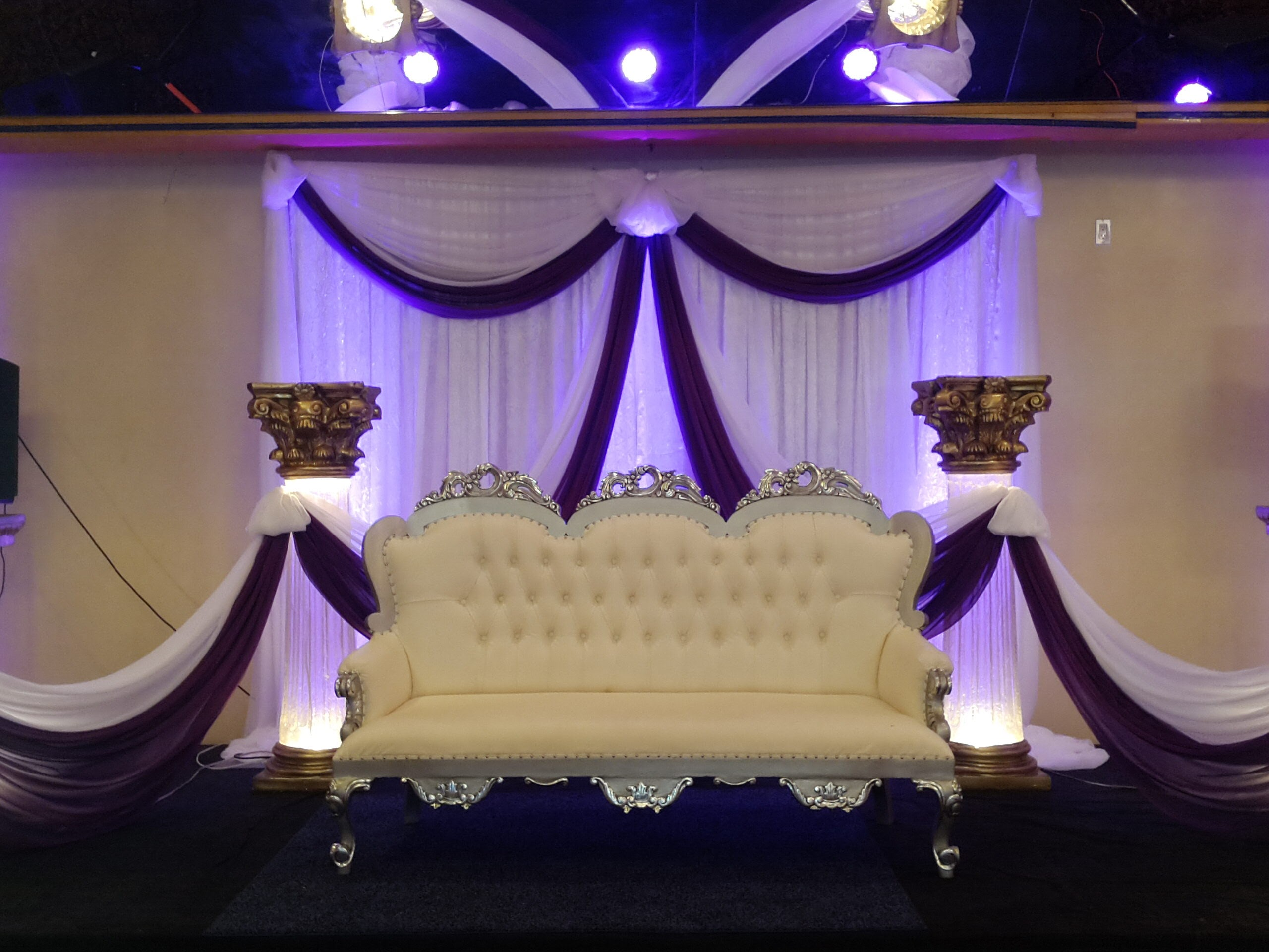 banquet hall chair covers gretna green stage decorations  my royal palace