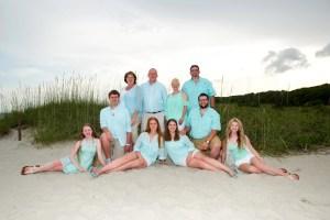 Large Family portrait Myrtle Beach