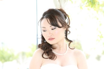 Bridal closeup photography pose