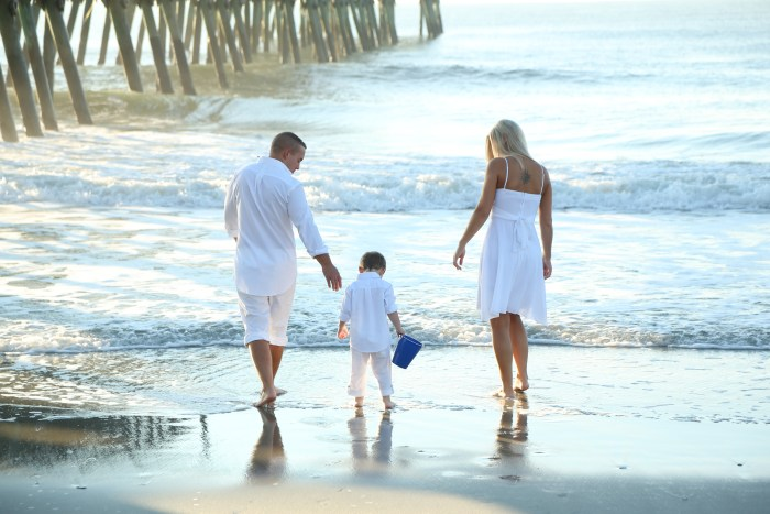 Sunrise family beach portraits in Myrtle Beach