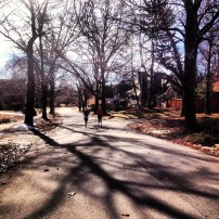 My run view 1/12/14 - Brookside, Kansas City, Mo.