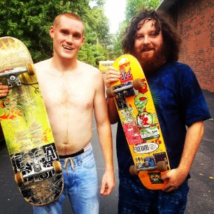 My run view 9/8/14 - meet Andrew (left) and Jamie. Oh....and their boards. Westwood, Kan. © Sally Morrow Photography