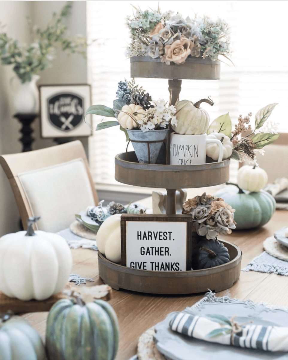 Fall/Autumn Harvest Tiered Tray