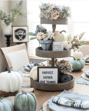 Fall/Autumn Harvest Tiered Tray Styling