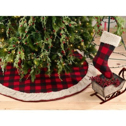 Sherpa & Buffalo Tree Skirt & Stocking
