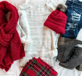 Christmas Red is the perfect addition to a holiday outfit