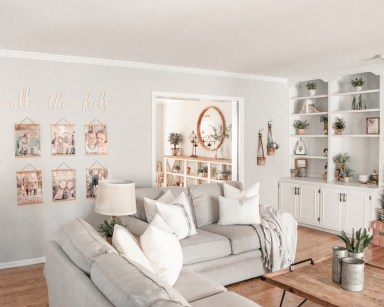 Home Design Modern Farmhouse Living Room with DIY Gallery Wall
