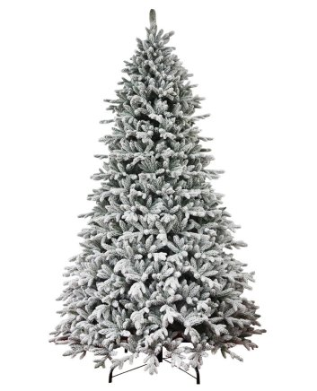 Weekly Steal 10ft Queen Flocked Christmas Tree