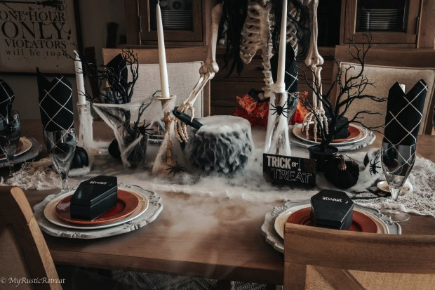 Creating a Spooky Halloween Tables Setting