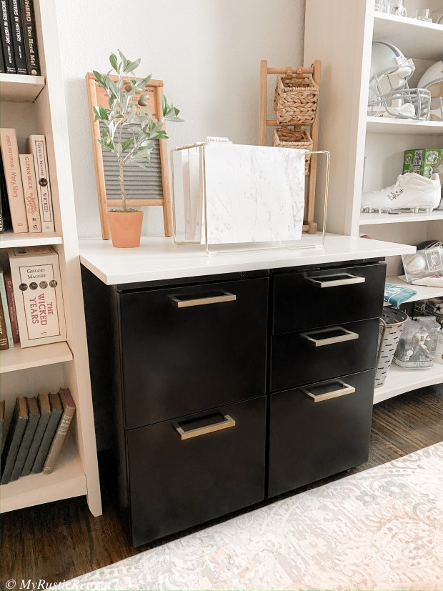 Easy DIY Filing Cabinet Makeover to Refresh Office