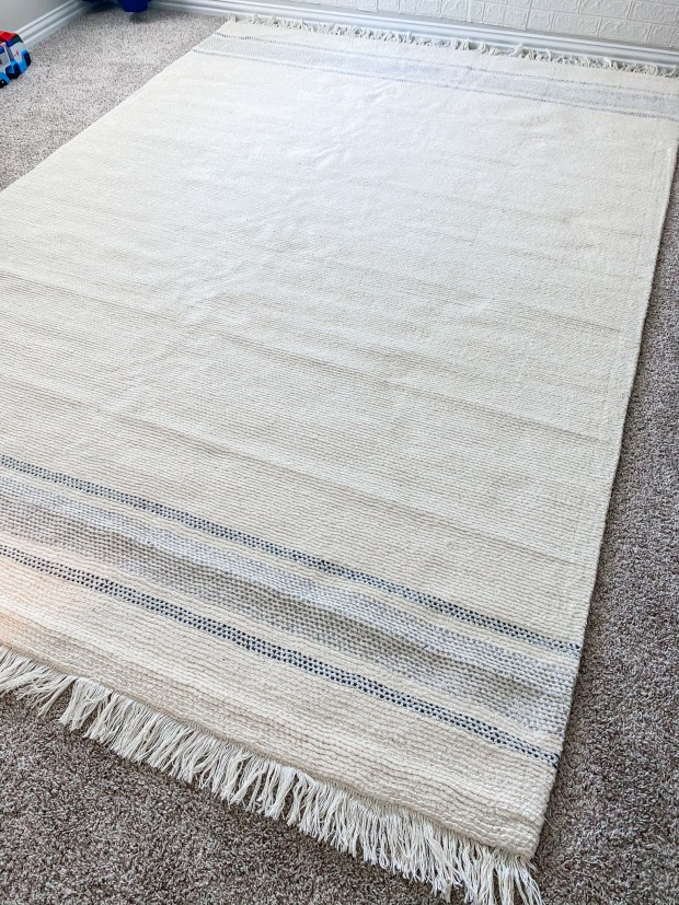 Farmhouse Rug for Boys Bedroom Makeover