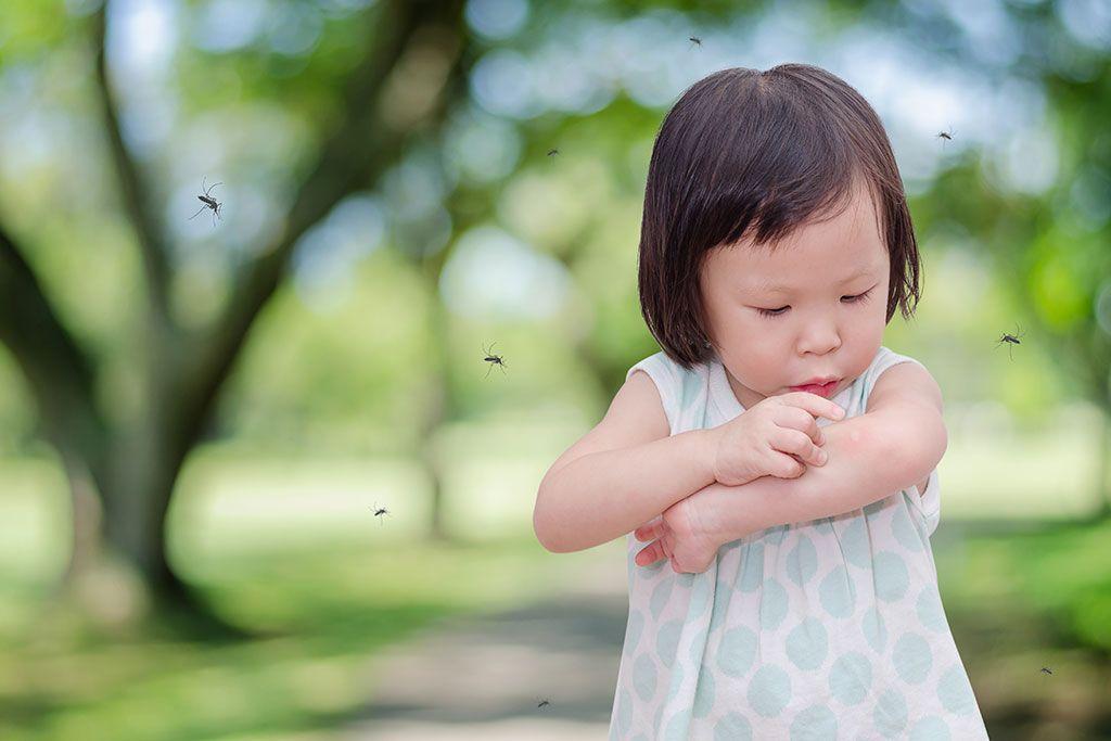 niña mosquitos