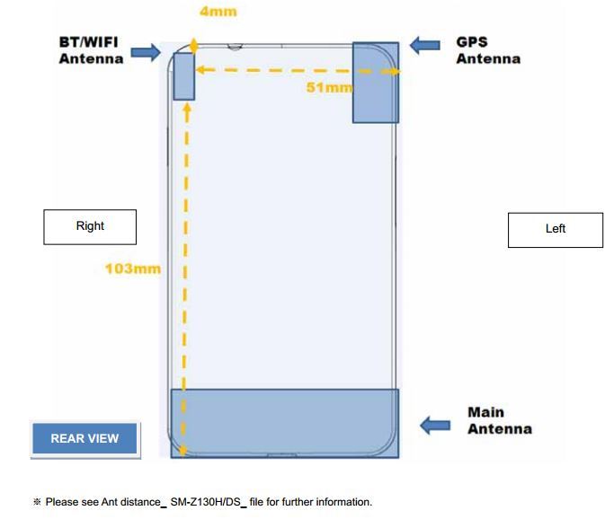 Dual-SIM Samsung Tizen phone SM-Z130H approved by the FCC