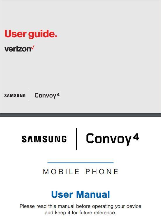 Verizon Samsung Convoy 4 User Manual / Guide