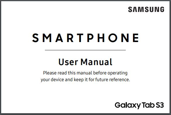 Samsung Galaxy Tab S3 (SM-T820) User manual / Guide