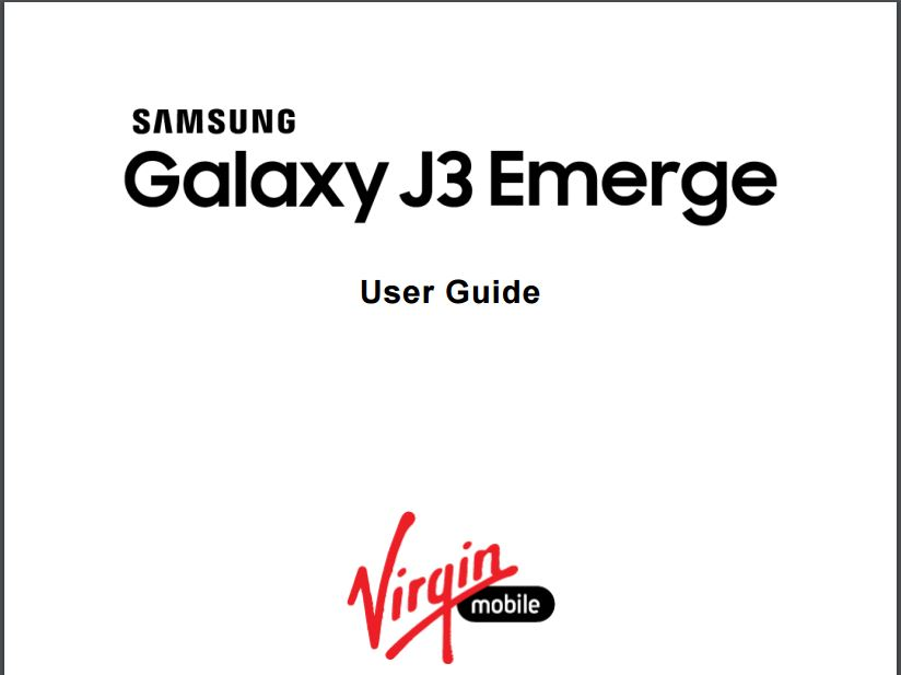 Samsung Galaxy J3 Emerge (SM-J327P) User manual / Guide