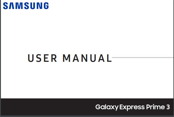 AT&T Samsung Galaxy Express Prime 3 J337A User manual / Guide