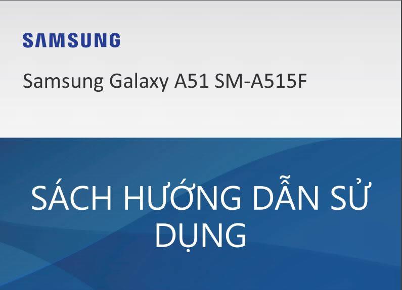 Samsung Galaxy A51 SÁCH HƯỚNG DẪN SỬ DỤNG
