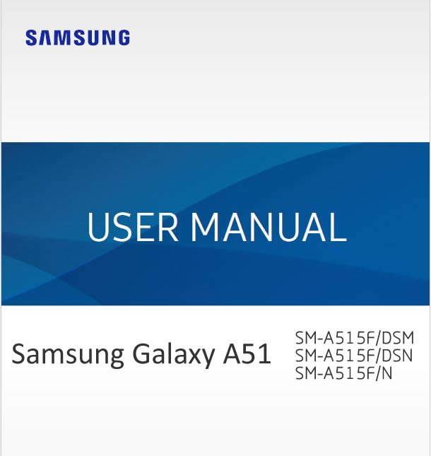 Samsung Galaxy A51 User manual / Guide