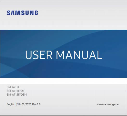 Samsung Galaxy A71 User manual