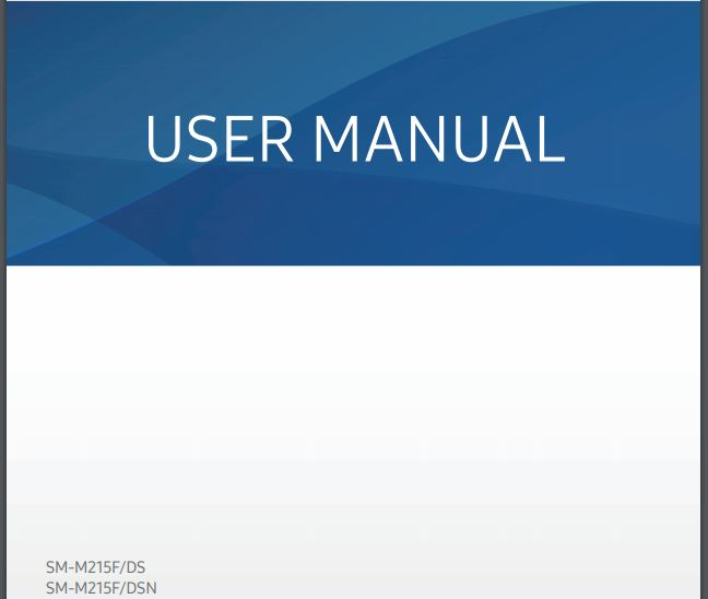 Samsung Galaxy M21 User manual