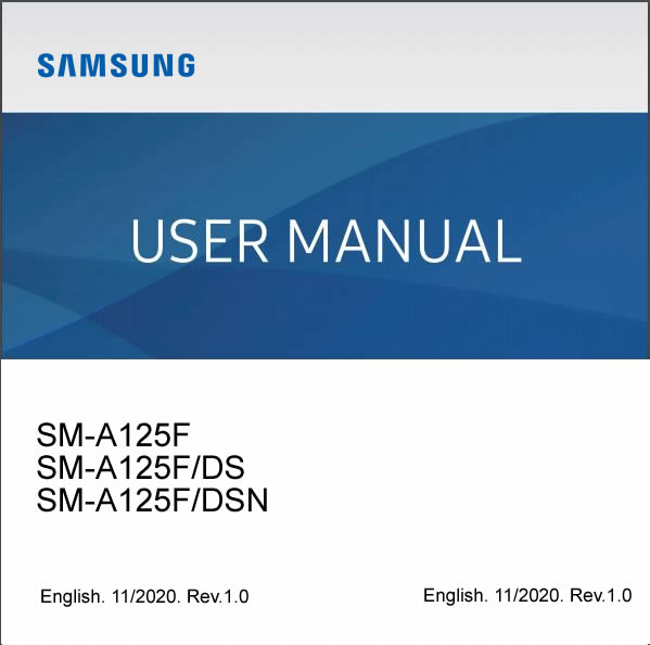 Samsung Galaxy A12 SM-A125F User Manual / Guide