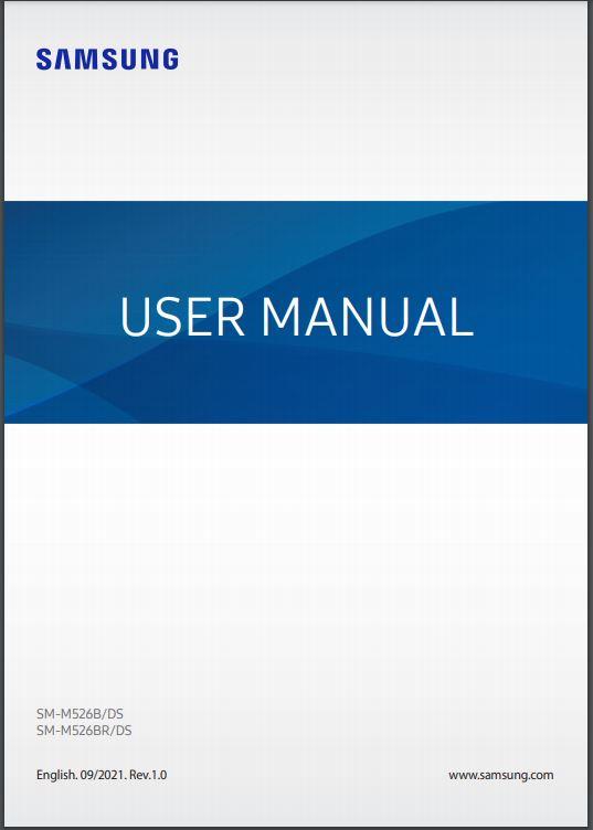 Galaxy M52 5G Manual / User Guide