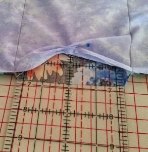 Slide ruler inside fabric