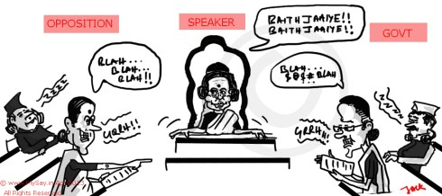 meira kumar cartoom,sonia gandhi cartoon,sushma swaraj cartoon,mysay.in,parliament cartoon,
