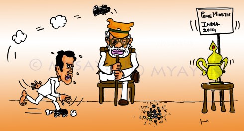 modi cartoon image,rahul gandhi cartoon image,general elections 2014,political cartoons,mysay.in,