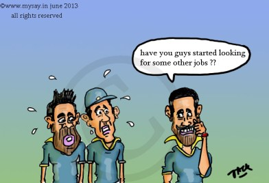 virat kohli cartoon,gautam gambhir cartoon,shikhar dhawan cartoon,mysay.in