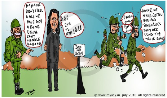 tahir shah cartoon,eye to eye by tahir shah,pakistani singer, mysay.in, celeb cartoons,