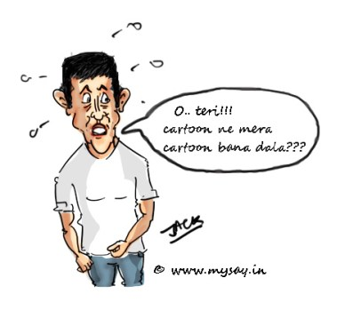aamir khan cartoon picture,bollywood celebs cartoons,mysay.in,