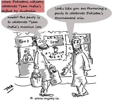 Pakistan criket fans cartoon image,Team India,Cricket funny cartoons,mysay.in,