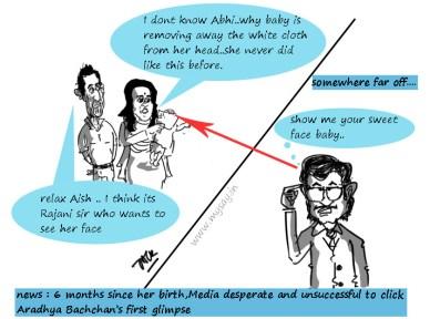 Rajinikanth jokes,Rajinikanth cartoon image,aishwarya rai cartoon image,abhishek bachchan cartoon,bollywood cartoons,mysay.in,