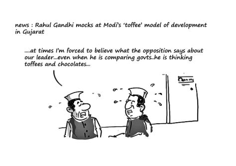 toffe model of development,rahul gandhi jokes,modi jokes,mysay.in,political cartoons 2014,