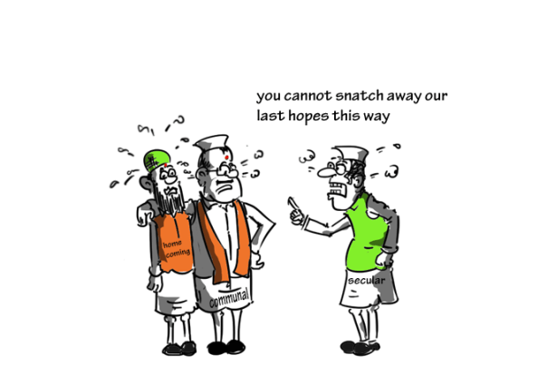 ghar vapsi conversion event,homecoming event cartoon,mysay.in,